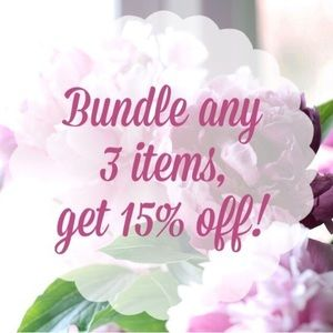Bundle 3 items for 15% off🌷